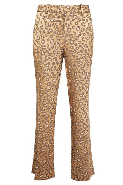 Leopard wijd pants panter