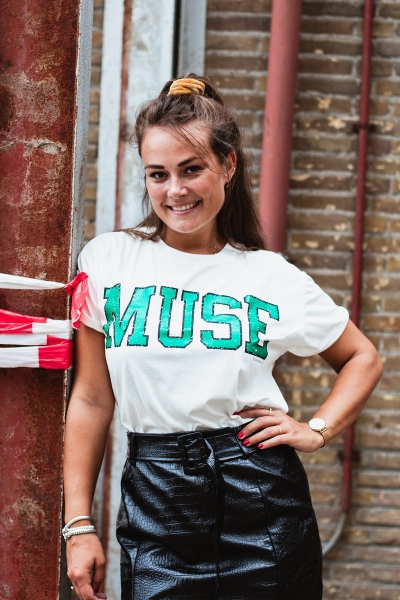 Muse boxy tee off white