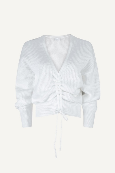 NMGITTE L/S ROUCHING  KNIT wit