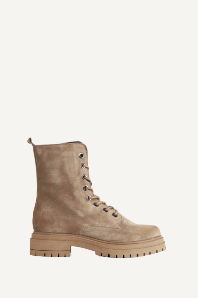 Veterbiker basic suede taupe