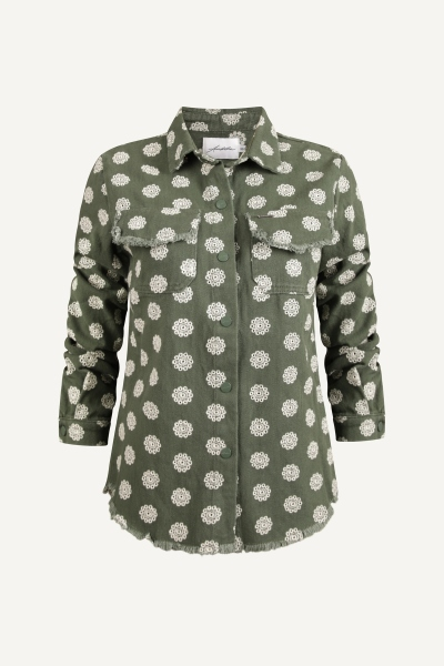 Blouse jas embroidery groen