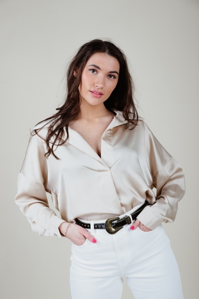 Typical Jill Blouse Beige - LOU