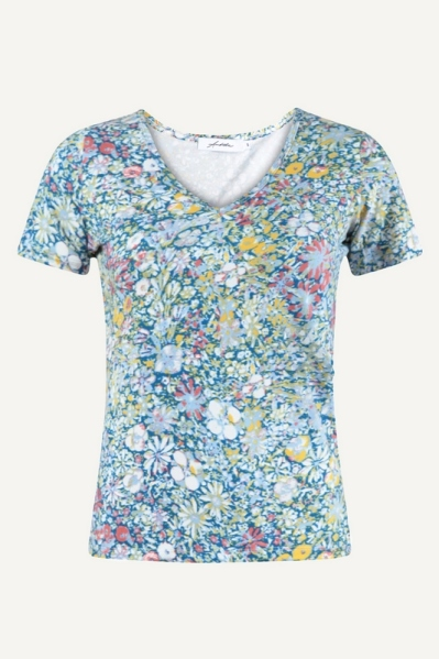 Ambika shirt / top Blauw - MELINDA FLOWER