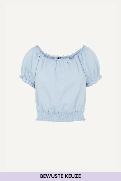 Pieces Blouse Blauw - 17112689