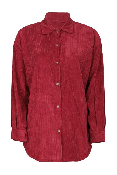 Things I Like Things I Love Blouse Bordeaux - CORDUROY