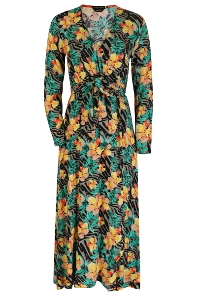 Maya tropical maxi wrap dress multi