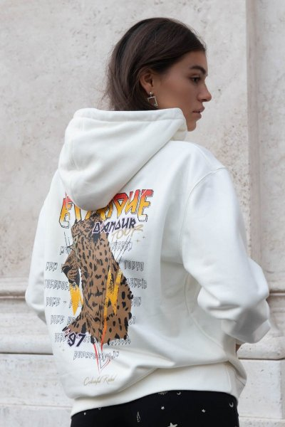 Electrique d'amour oversized hoodie off white