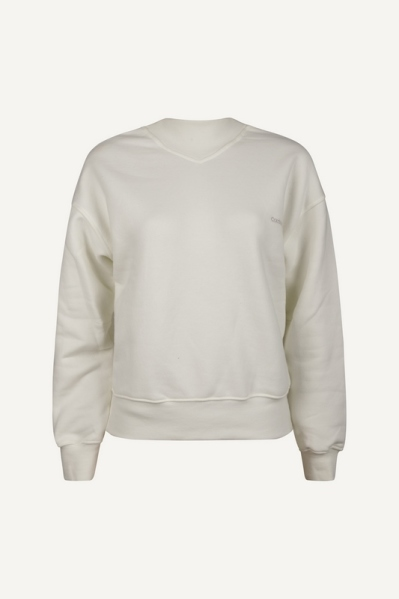 Marshmallow loosefit high neck sweater wit