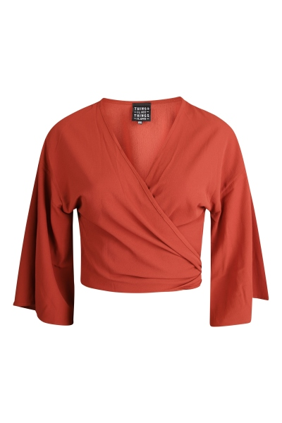 Things I Like Things I Love Blouse Donker rood - SUNNY