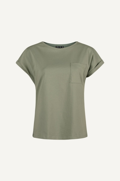 T-shirt with chest pocket army