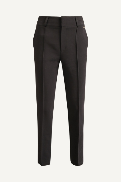 Cigarette trouser with french pocket zwart
