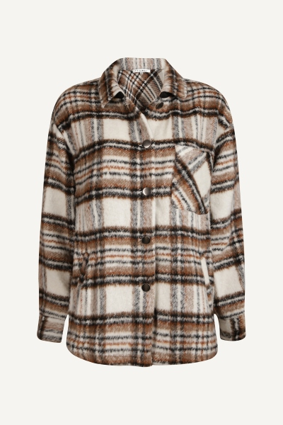 Checked jacket off white