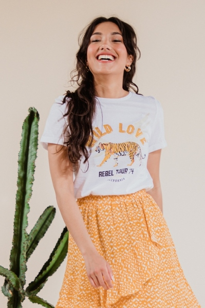 T-shirt with tiger print wit