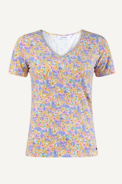 Ambika shirt / top Geel - MELINDA FLOWER
