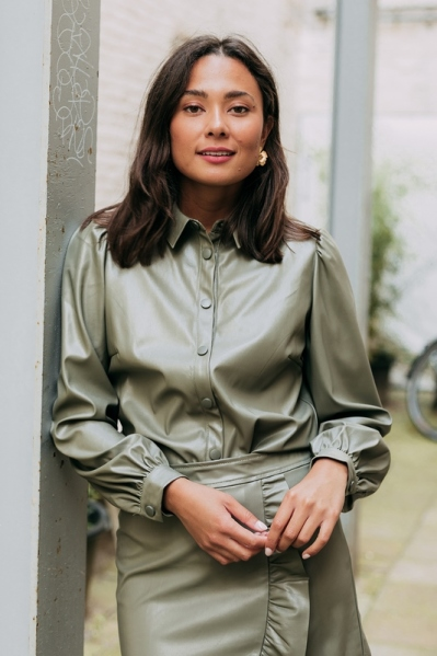 Your Essentials Blouse Groen - OLYMPIA