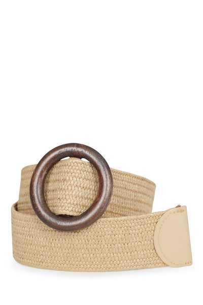 Riem touw breed beige