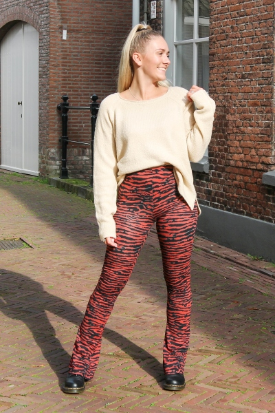 Print flare donker rood