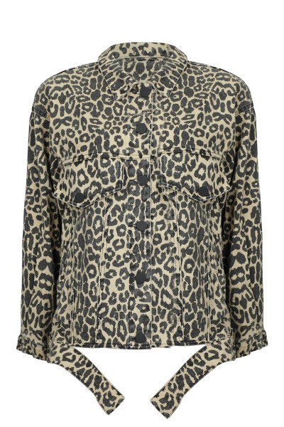 Panter print jacket beige
