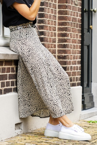 Skirt cheetah beige