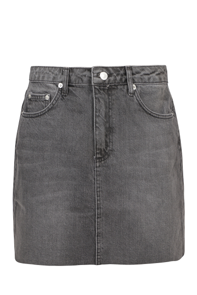 Denim mini skirt zwart