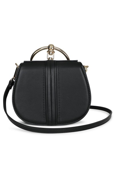 Ring detail bag zwart