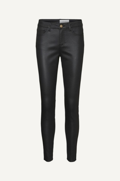 Coated pants zwart