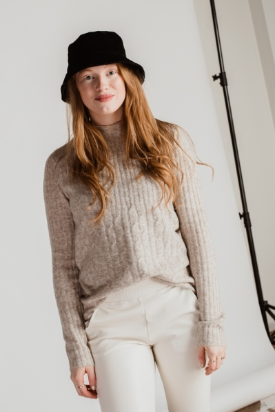 NMSALLY L/S KNIT beige