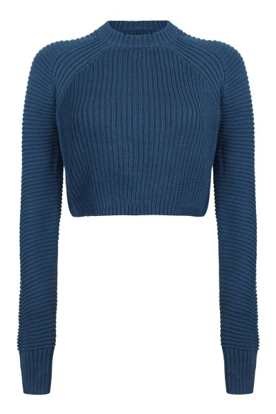 Knit cropped blauw