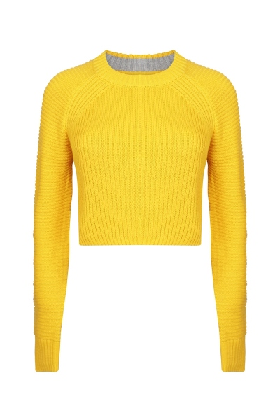 Knit cropped oker