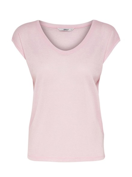 Lurex top roze