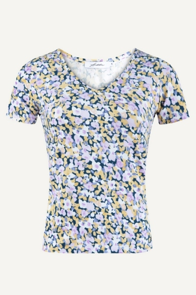 Ambika shirt / top Paars - MELINDA FLOWER