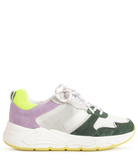 Sneaker colour blocking paars