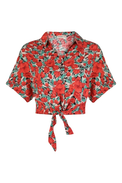 24 Colours Blouse Rood - 30236