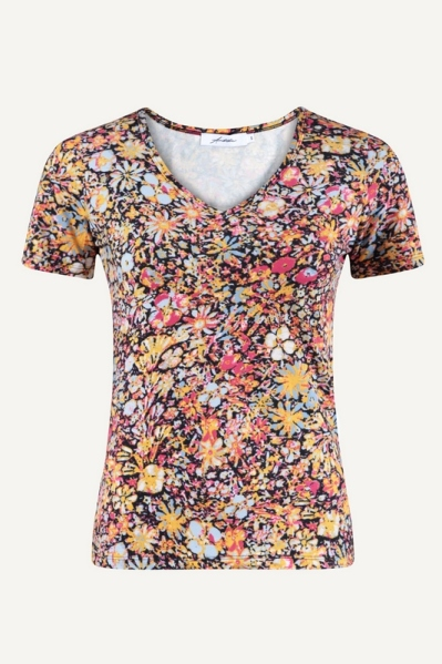 Ambika shirt / top Rood - MELINDA FLOWER