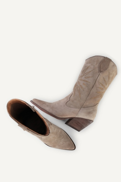 Western ruige hak embrodery taupe