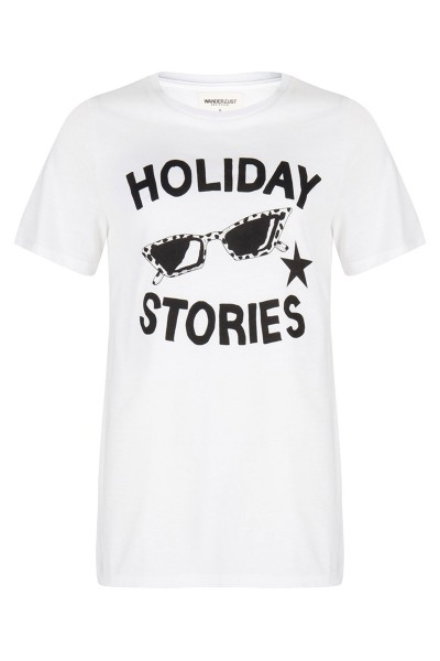 Holiday tee wit