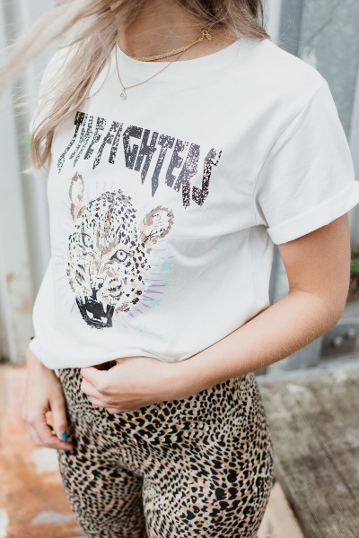 Ambika shirt / top Wit - FIGHTERS