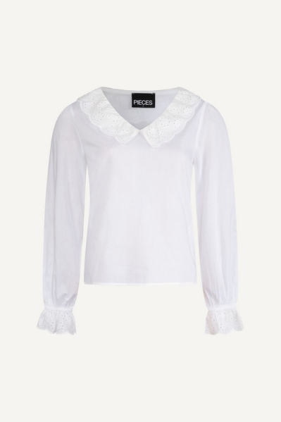 Pieces Blouse Wit - 17112595