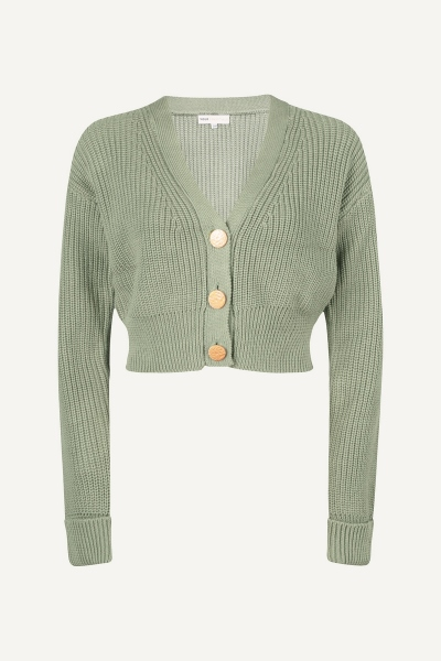 Long sleeved cropped button mint
