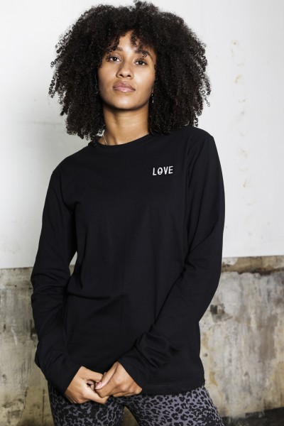 Things I Like Things I Love shirt / top Zwart - Love