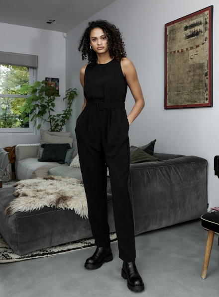 Things I Like Things I Love Jumpsuit & playsuit Zwart - NORA