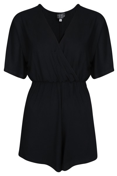 Things I Like Things I Love Jumpsuit & playsuit Zwart - KIMONO