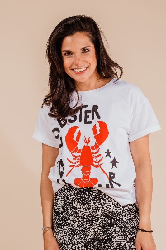 Colourful Rebel shirt / top Wit lobster Love Tour
