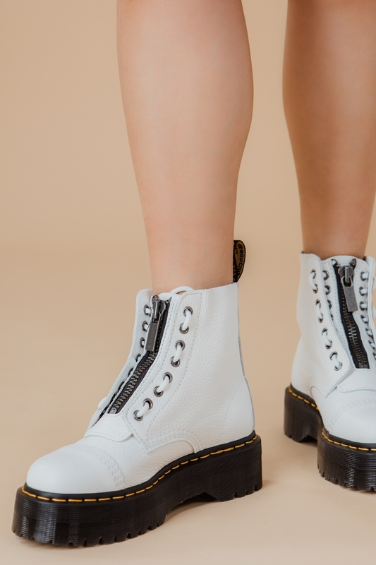 Dr.Martens Veterboot Wit SINCLAIR AUNT SALLY