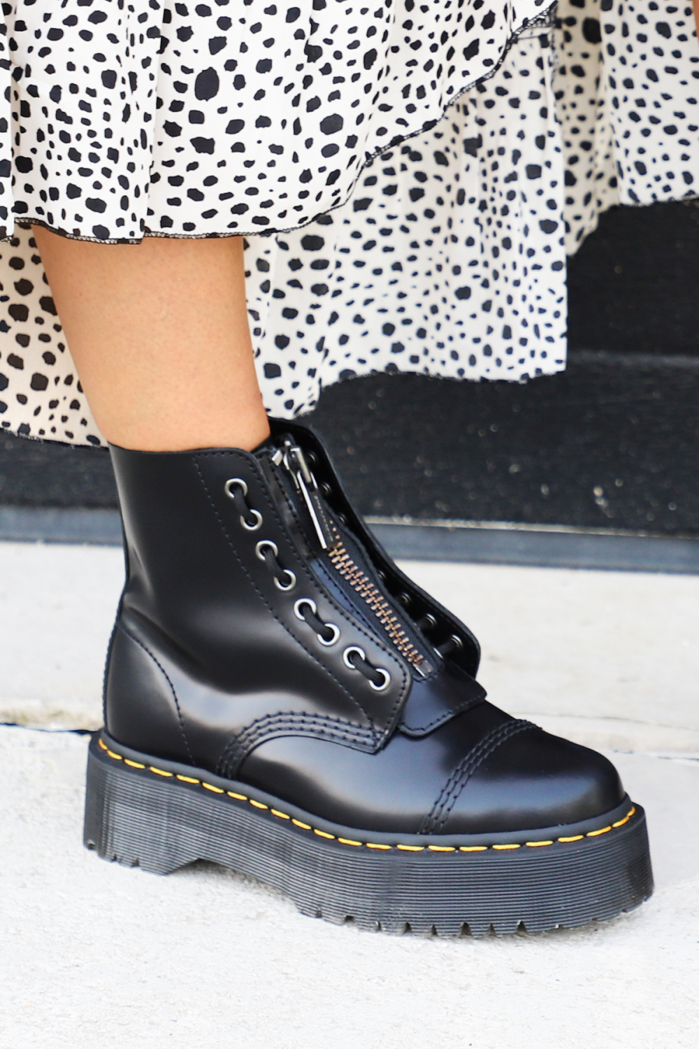 Dr.Martens Veterboot Zwart SINCLAIR POLISHED