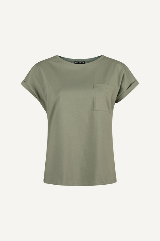D.L.Y. shirt / top Army groen CLAIRY