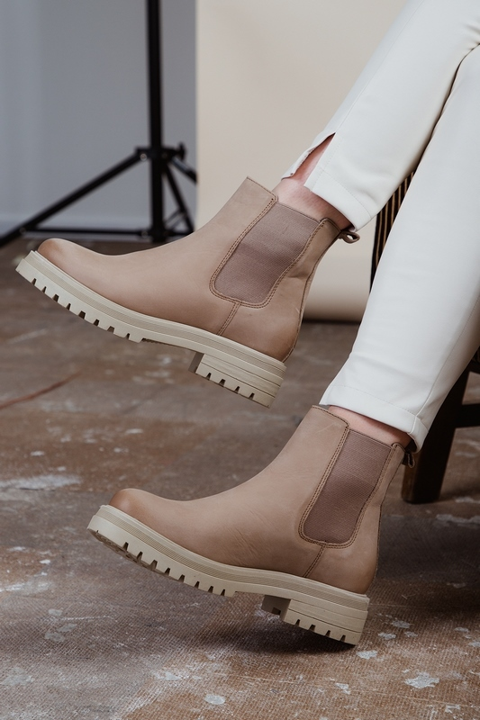 PS Poelman chelsea boots Taupe LPCMINK-02POE