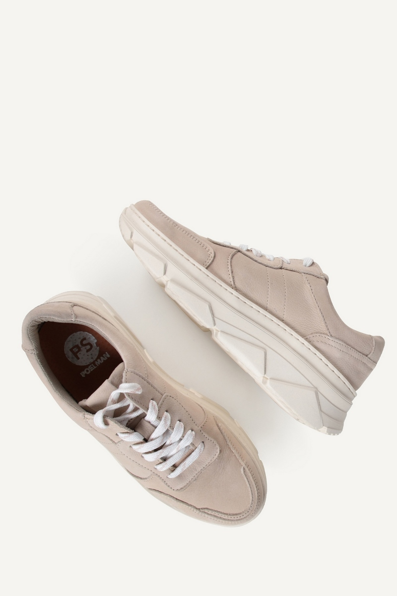 PS Poelman Lage sneaker Taupe p7004POE