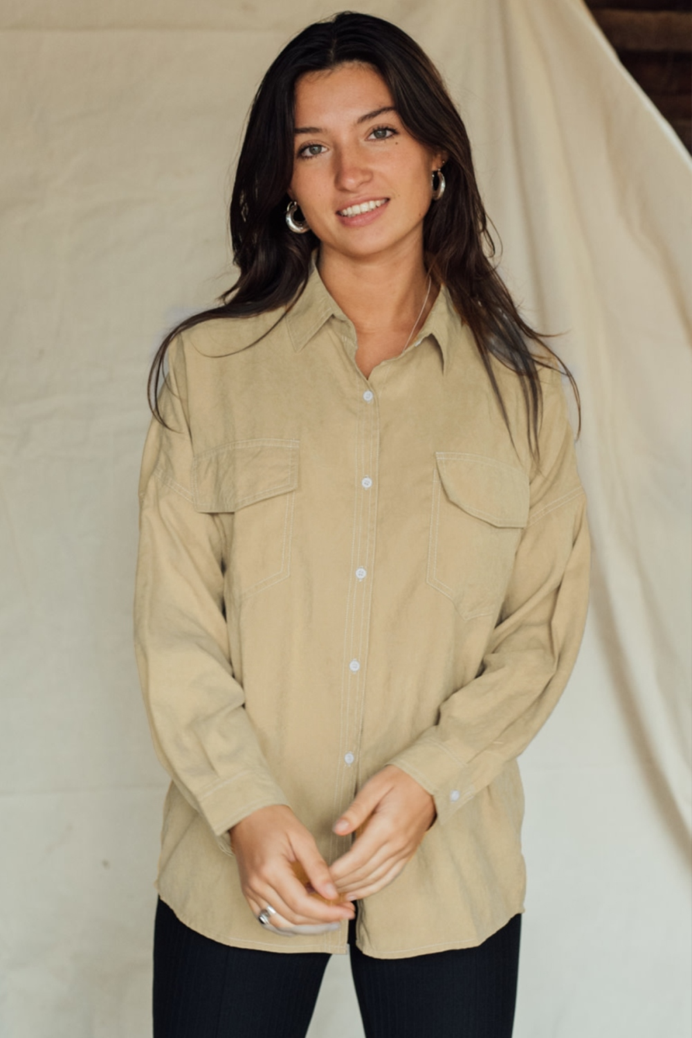 Things I Like Things I Love Blouse Beige QUIN