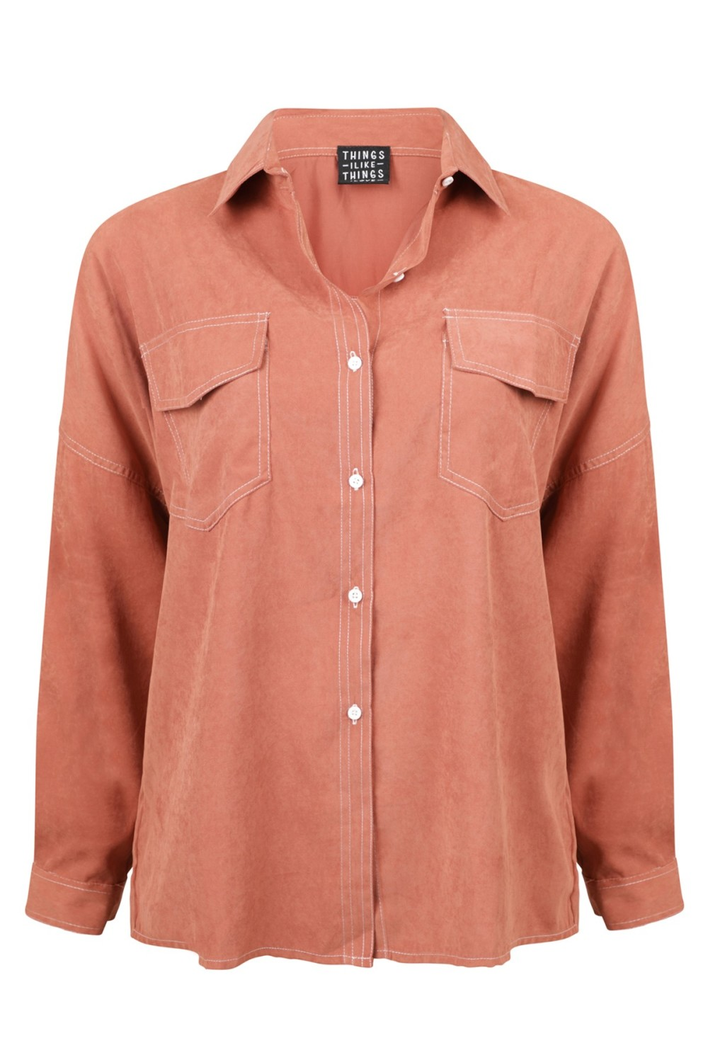 Things I Like Things I Love Blouse Bruin QUIN